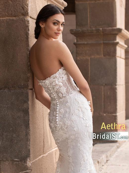 Pronovias Aethra Back closeup